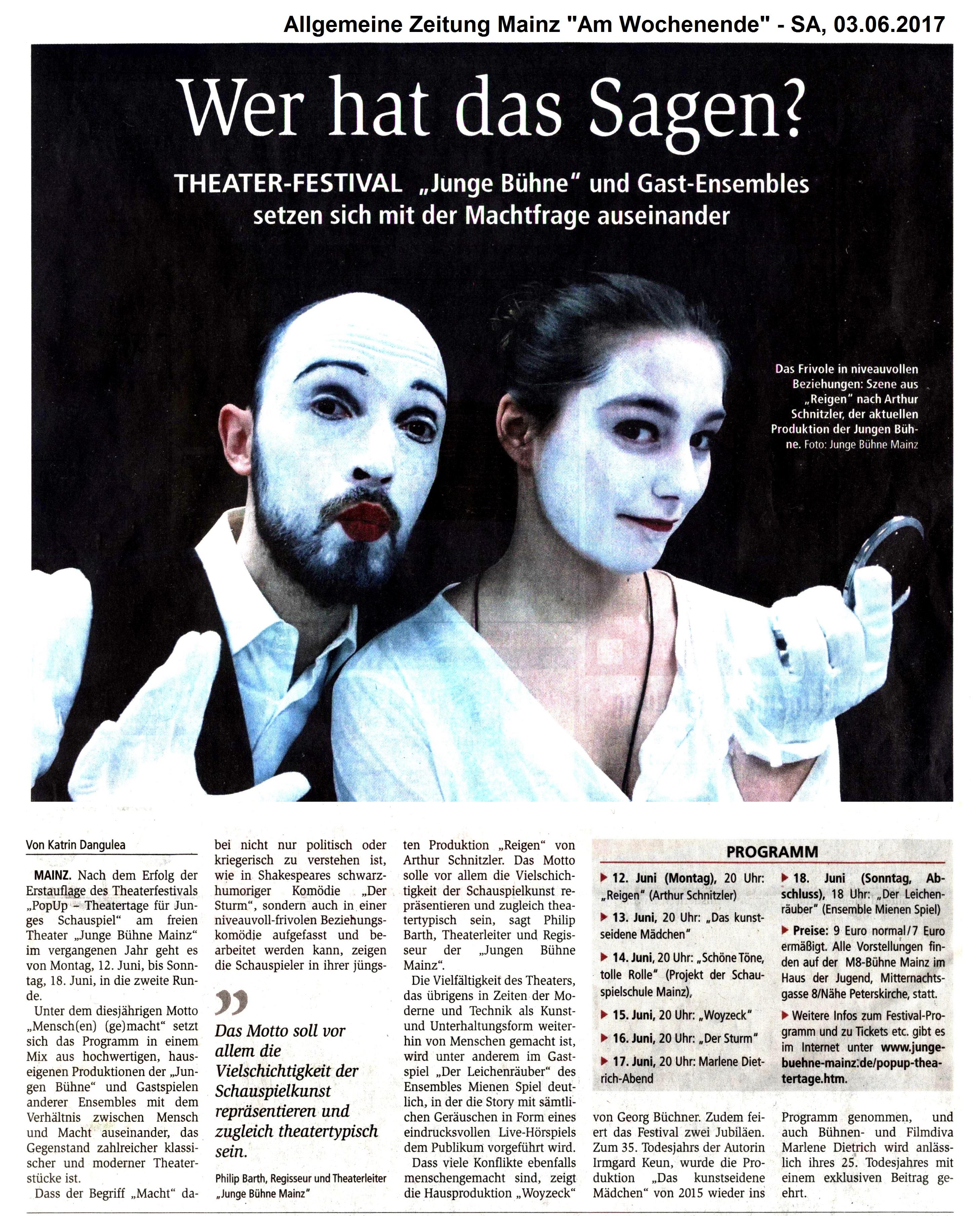 Popup Theatertage Für Junges Schauspiel Junge Bühne Mainz